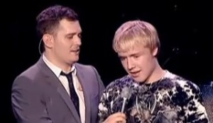 Michael Bublé and Sam Hollyman