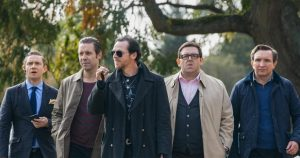 Simon Pegg, Nick Frost, Martin Freeman, Paddy Considine, and Eddie Marsan in 'The Worlds End'.