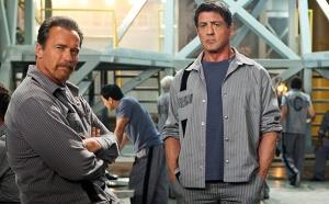 Arnold Schwarzenegger & Sylvester Stallone in 'Escape Plan'