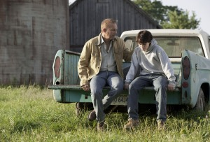 Kevin Costner As Jonathan Kent & Dylan Sprayberry as the young Clark Kent