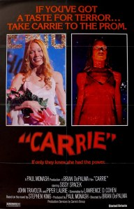 Poster for the original 'Carrie'