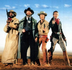 Danny Glover, Kevin Klein, Scott Glenn and Kevin Costner in 'Silverado'