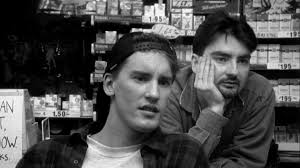 A screen shot from 'Clerks' of Randal and Dante played by Jeff Anderson and Brian O'Halloran