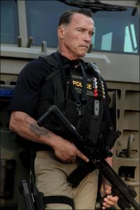 Arnold Schwarzenegger as Breacher Wharton in 'Sabotage'