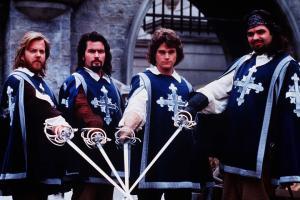 Athos, Aramis, D'Artagnan and Porthos