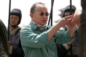 John Woo on set of the movie 'Red Cliff'