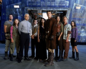 The crew of the Firefly class starship Serenity