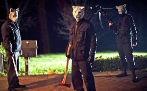 Screen grab of the bad guys in 'You're Next'