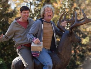 Jim Carrey and Jeff Daniels as Lloyd Christmas and Harry Dunne in 'Dumb and Dumber To'