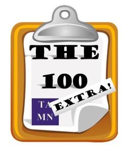 The 100 Extra logo